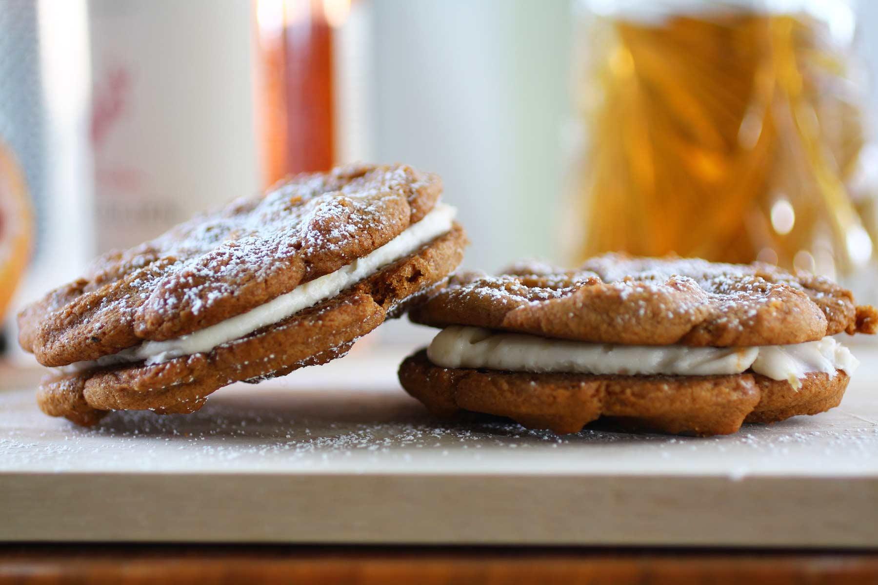 Ginger Grapefruit Cream Sandwich Cookies — Recipe Fiction