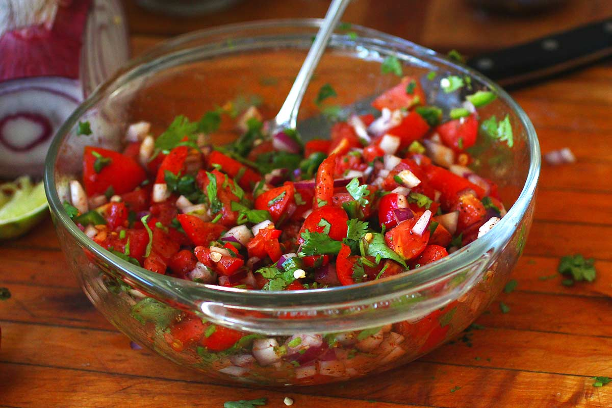 Fresh Tomato Salsa (Pico de Gallo) — Recipe Fiction