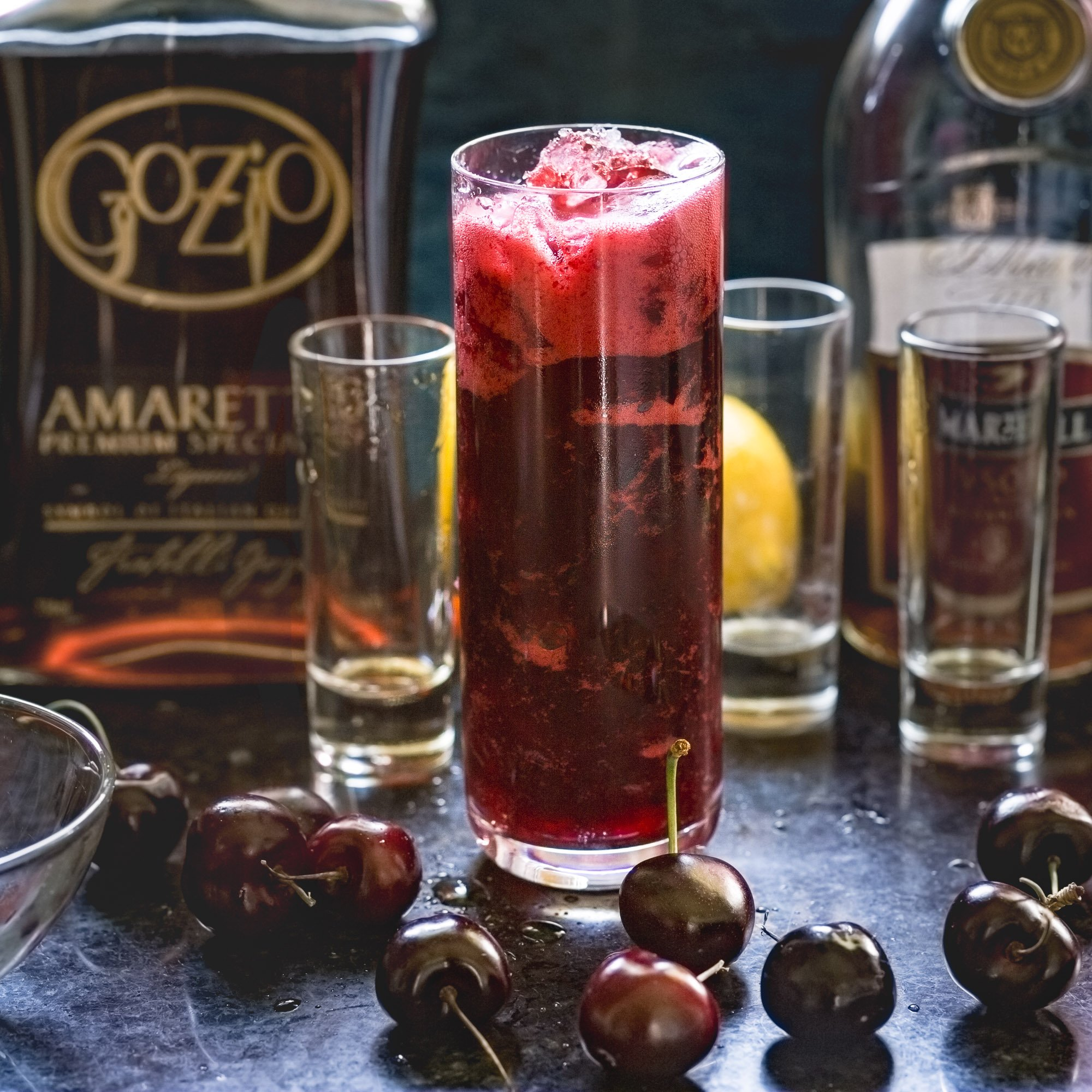 Cherry Amaretto Sidecar Cocktail — Recipe Fiction